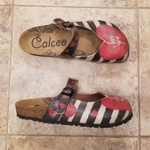 Calceo Like New Mary Jane I Love You Mules Clogs
